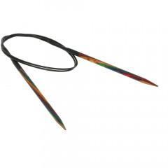 Круговые спицы Lana Grossa Разноцветное дерево 80см • 5,0