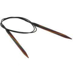 Круговые спицы Lana Grossa Разноцветное дерево 80см • 6,5