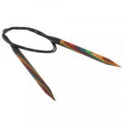 Круговые спицы Lana Grossa Разноцветное дерево 80см • 9,0