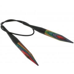 Круговые спицы Lana Grossa Разноцветное дерево 40см • 10,0