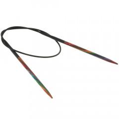 Круговые спицы Lana Grossa Разноцветное дерево 40см • 3,25