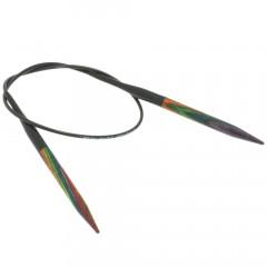 Круговые спицы Lana Grossa Разноцветное дерево 40см • 5,0