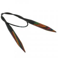 Круговые спицы Lana Grossa Разноцветное дерево 40см • 9,0