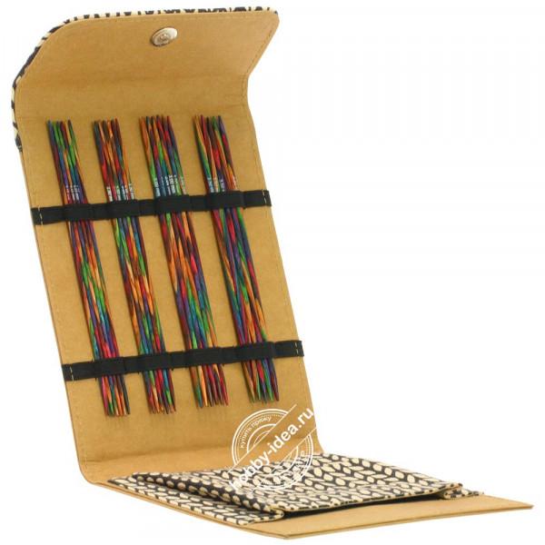 Купить Lana Grossa Набор чулочных спиц, 15 см, малый (дерево, многоцветные, замша), Бежевый