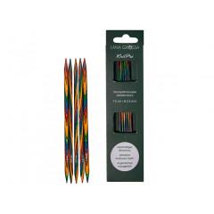 Чулочные спицы Lana Grossa Разноцветное дерево 15см • 2,0