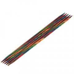 Чулочные спицы Lana Grossa Разноцветное дерево 15см • 3,75