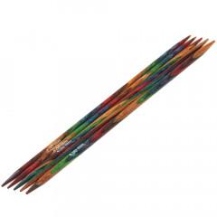 Чулочные спицы Lana Grossa Разноцветное дерево 15см • 4,0